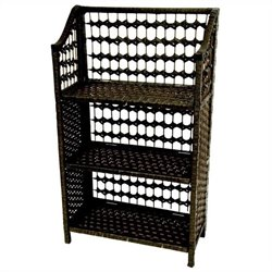 Oriental Furniture 3 Shelf Shelving Unit in Black