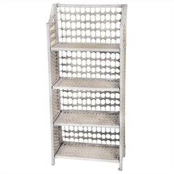 Oriental Furniture 4 Shelf Shelving Unit in White