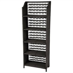 Oriental Furniture 5 Shelf Shelving Unit in Black