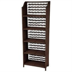 Oriental Furniture 5 Shelf Shelving Unit in Mocha