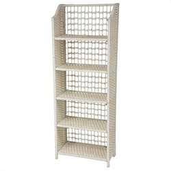 Oriental Furniture 5 Shelf Shelving Unit in White