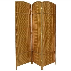 6 ' Tall Diamond Weave 3 Panel Room Divider
