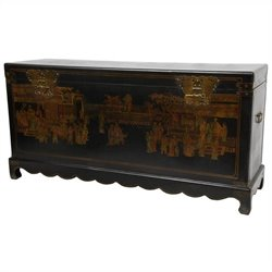 Oriental Furniture Daily Life Trunk in Black