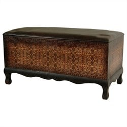 Oriental Furniture Olde-worlde Euro Baroque Bench in Brown