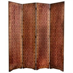 Oriental Furniture 6 ' Tall Olde-worlde Rococo Room Divider in Brown