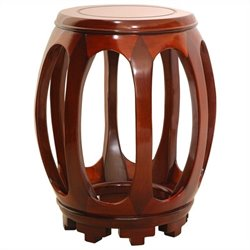 Oriental Furniture Circular Stand in Honey