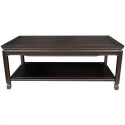 Oriental Furniture Qing Coffee Table in Rosewood