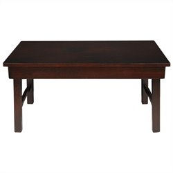 Oriental Furniture Korean Tea Table in Rosewood