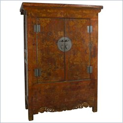 Oriental Furniture Antique Armoire in Rosewood