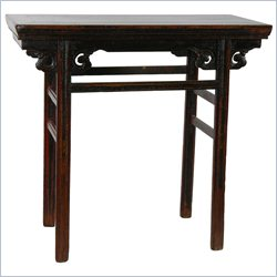 Oriental Furniture Reversible Antique Carved Chinese Table in Rosewood