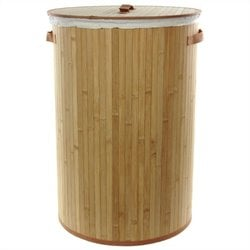 Oriental Furniture Laundry Hamper in Natural