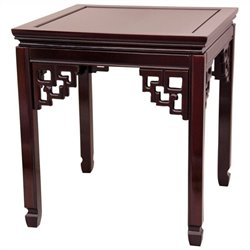 Oriental Furniture Square Ming Table in Rosewood