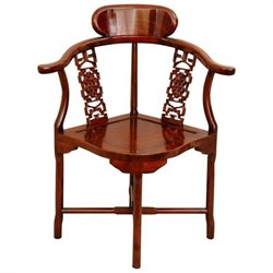 Oriental Furniture Corner Chair in Honey