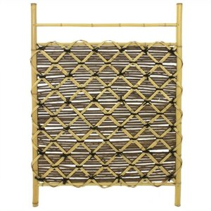 Oriental Furniture Bamboo Fence Door in Natural
