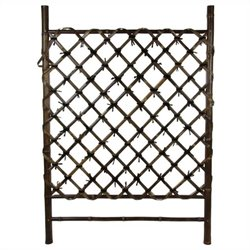Oriental Furniture Japanese Garden Trellis in Dark Natural