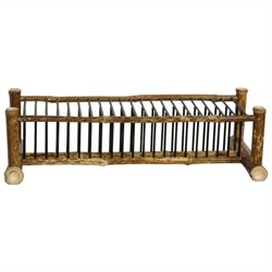 Oriental Furniture Horizontal CD DVD Rack in Natural