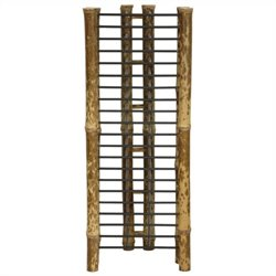 Oriental Furniture Vertical CD and DVD Rack in Natural