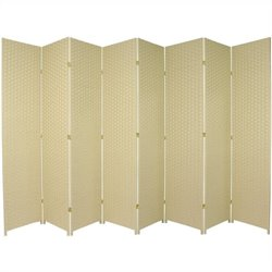 Oriental Furniture 7 ' Tall Room Divider with 8 Panel in Cream