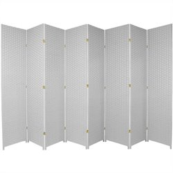Oriental Furniture 7 ' Tall Room Divider in White