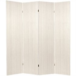 Oriental Frameless Room Divider with 4 Panel in White