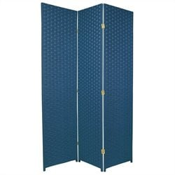 Oriental Furniture 6 ' Tall Room Divider in Blue Jeans