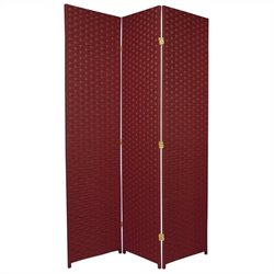 Oriental Furniture 6 ' Tall Room Divider in Burgundy
