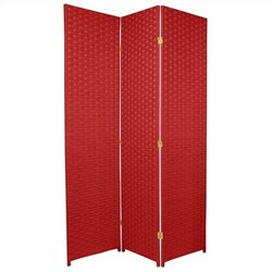 Oriental Furniture 6 ' Tall Room Divider in Cherry Red