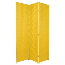 Oriental Furniture 6 ' Tall Room Divider in Goldenrod