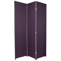 Oriental Furniture 6 ' Tall Room Divider in Deep Purple