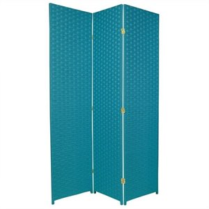 Oriental Furniture 6 ' Tall Room Divider in Turquoise Blue