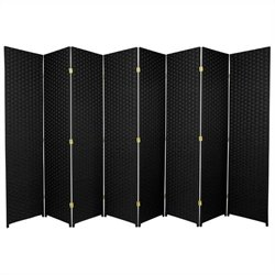 Oriental Frameless Room Divider with 8 Panel in Black