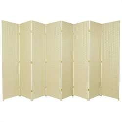 Oriental Furniture 6 ' Tall Frameless Room Divider in Cream