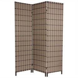 Oriental Furniture 6 ' Tall Tropical Outdoor Screen in Beige and Tan