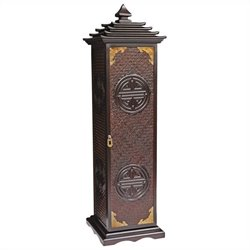 Oriental Furniture Pagoda CD and DVD Stand in Rosewood