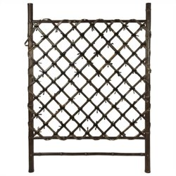Oriental Furniture Garden Trellis in Dark Natural