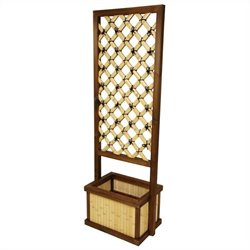 Oriental Furniture 6 ' Tall Trellis in Natural