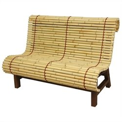 Oriental Furniture Japanese Bench in Natural