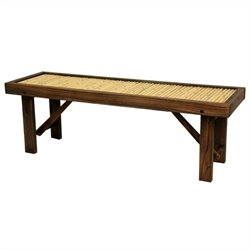 Oriental Furniture Bench in Natural