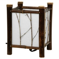 Oriental Furniture Watashi Table Lamp in Dark Natural