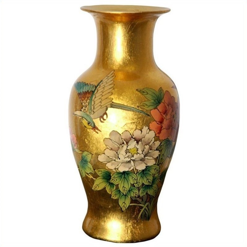 Oriental furniture 12 fishtail vase in gold por ftv gb for Oriental vase and furniture
