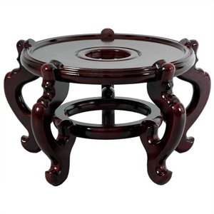 Oriental Furniture Fishbowl Stand in Rosewood