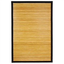 Oriental Furniture Bamboo Rug in Natural - 2 x 3 feet