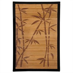 Oriental Furniture Bamboo Tree Design Rug in Honey - 2 x 3 feet