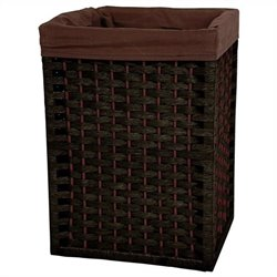 Oriental Furniture Basket in Black