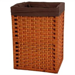 Oriental Furniture Basket in Honey