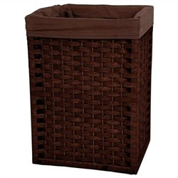 Oriental Furniture Basket in Mocha