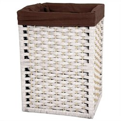 Oriental Furniture Basket in White