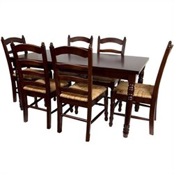 Oriental Furniture Classic Dining Room Set in Cherry