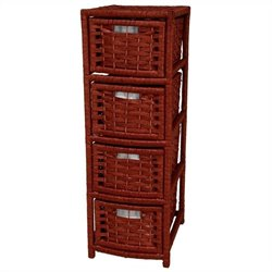 Oriental Furniture 4 Drawer Occasional Chest in Mahogany