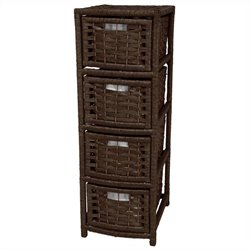 Oriental Furniture 4 Drawer Occasional Chest in Mocha